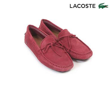 Mocassins Lacoste® Concours Lace Homem | Vermelho