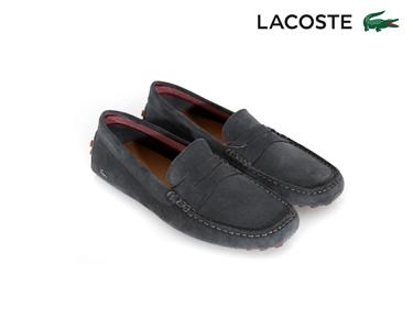 Mocassins Lacoste® Concours 17 Homem | Cinza Escuro