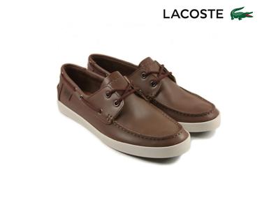 Sapatos de Vela Lacoste® Keellson Homem | Castanho Escuro
