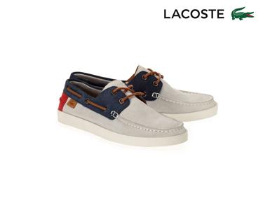 Sapatos de Vela de Camurça Lacoste® Keellson Homem | Azul e Cinza