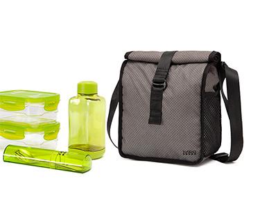 Lancheira & 4 Recipientes - Bag&Go Lifestyle! | Cinzento