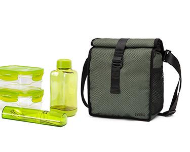 Lancheira & 4 Recipientes - Bag&Go Lifestyle! | Verde