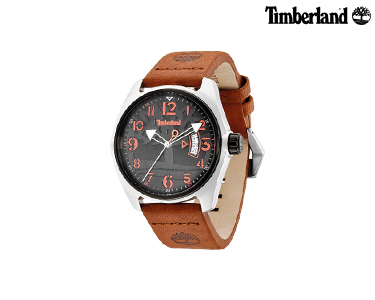 Relógio Timberland® Sherington Castanho e Laranja