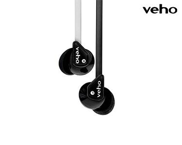 Auriculares Z2 Veho® | Branco e Preto