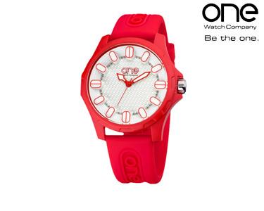 Relógio One® Colours Glow   Vermelho