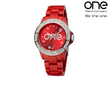Relógio One® Colours Pattern | Vermelho