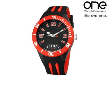 Relógio One® Colours Shade | Preto e Vermelho