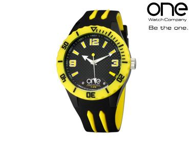 Relógio One® Colours Shade | Preto e Amarelo