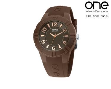 Relógio One® Cmyk | Castanho
