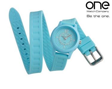 Relógio One® Mini   Azul c/ Cristais