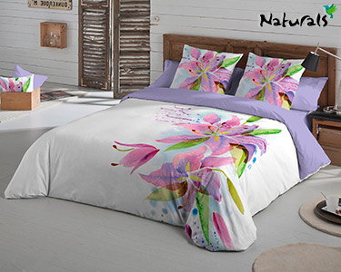 Jogo de Cama Lily Flowers Naturals® | Escolha o Tamanho