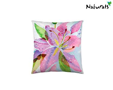 Capa p/ Almofada Grande Lily Flowers Naturals® | 60x60 cm