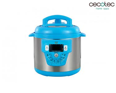 Panela de Pressão Eléctrica c/ 10 Funções Modelo E Azul | Cecotec®