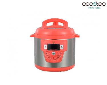 Panela de Pressão Eléctrica c/ 10 Funções Modelo E Vermelho   Cecotec®
