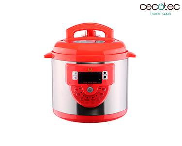 Panela de Pressão Eléctrica c/ 16 Funções Modelo F Vermelho | Cecotec®
