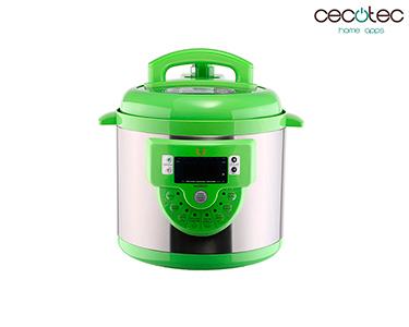 Panela de Pressão Eléctrica c/ 16 Funções Modelo F  Verde   Cecotec®