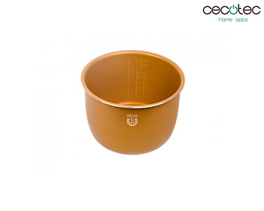 Recipiente Cerâmico Dourado 6L | Cecotec®
