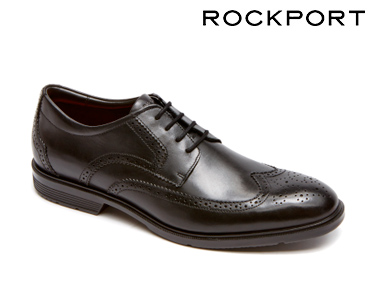 Sapatos Clássicos Smart Wingtip Rockport® | Preto