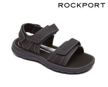 Sandálias Quarter Strap Rockport® | Preto e Cinza