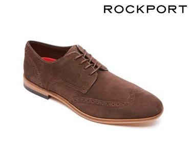 Sapatos Casuais Oxford Wing Rockport® | Castanho