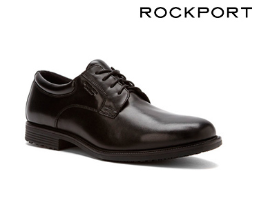 Sapatos Casuais Plain Toe Oxford Rockport® | Preto