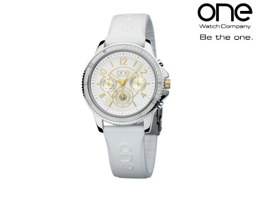 Relógio One® | Senhora Sterling Branco