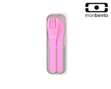 Talheres de Bolso Rosa   Plástico Biodegradável