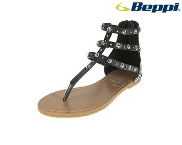 Sandálias Casuais com Três Tiras Beppi® | Preto