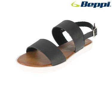 Sandálias Casuais Beppi® com Sola Branca | Preto