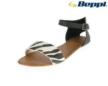 Sandálias Casuais Beppi® | Padrão Zebra