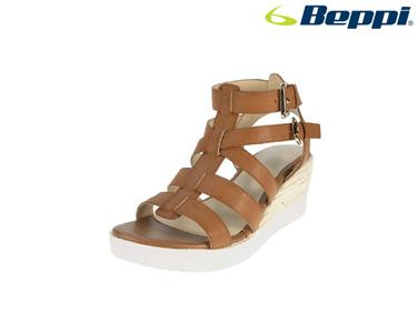 Sandálias Casuais com Cunha Beppi® | Castanho