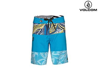 Calções de Banho Volcom® Macaw Mod   Azul e Amarelo
