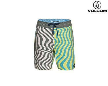 Calções de Banho Volcom® Spangler | Azul e Verde