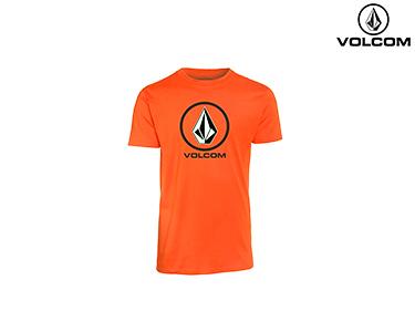 T-shirt Volcom® Circle Stone Basic   Laranja