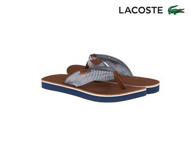 Chinelos Lacoste® Maridell Mulher | Navy Riscas