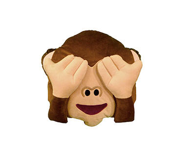 Almofada Emoji Macaco com as Mãos nos Olhos