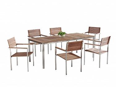 Mesa de Refeição + 6 Cadeiras de Jardim   Debussy