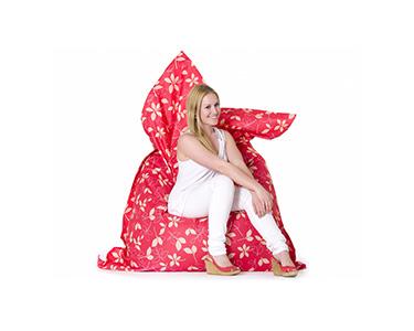 Puff Impermeável XXL Padrão Floral Rosa | 140x180 cm