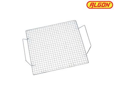 Bandeja p/ Grill Quadrada Algon® | Aço Cromado