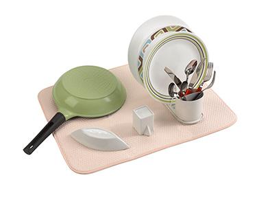 Escorredor de Pratos Microfibra | Creme