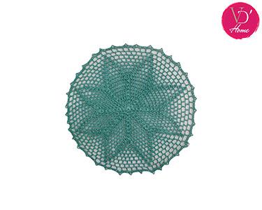 Individuail em Crochet Azul Petróleo | Flower