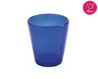 Conjunto de 6 Copos de Vidro Azul | Cancun