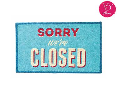 Tapete de Fibra Natural de Coco | Sorry We Are Closed