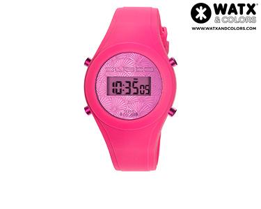 Relógio Watx & Colors® Custo Digital Simples  Rosa