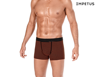 Pack 2 Boxers Impetus® Riscas Laranja