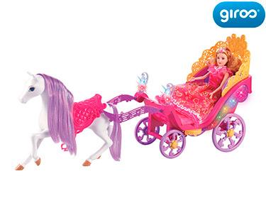 Princesa com Carruagem | Com Luzes e Sons!