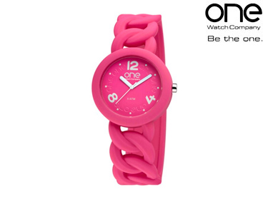 Relógio One® Colours Chain | Rosa