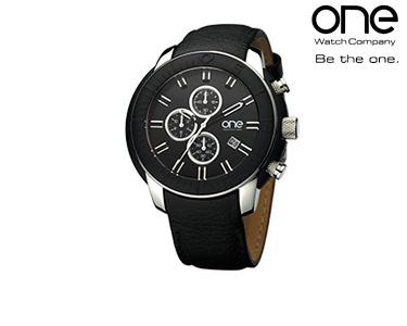 Relógio One® Round Trip Preto | Homem