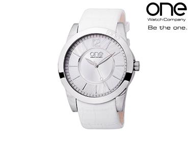 Relógio One® Spiral Branca | Senhora