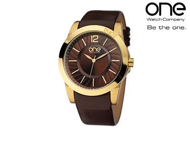 Relógio One® Spiral Castanha | Senhora